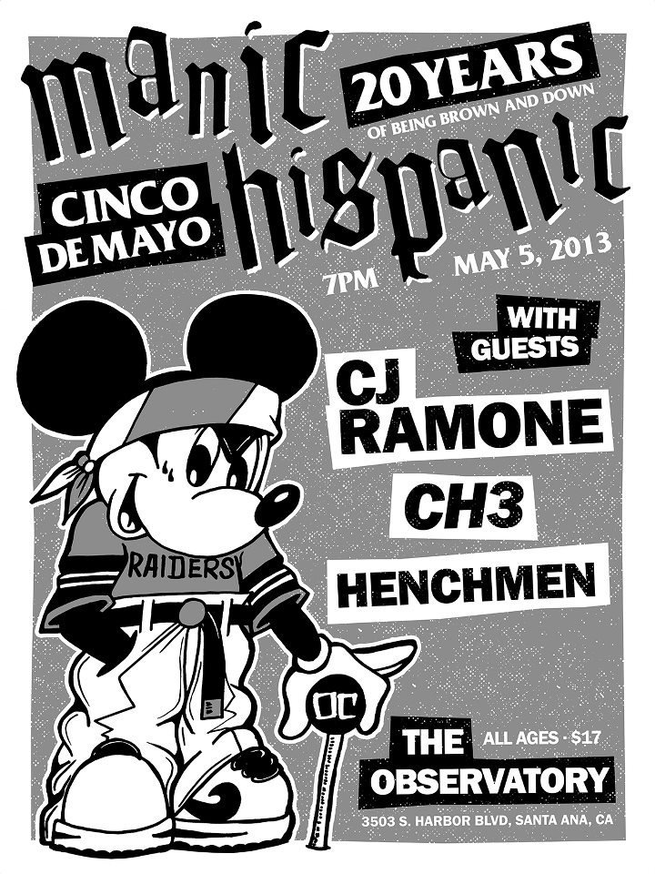 Manic Hispanic flyer