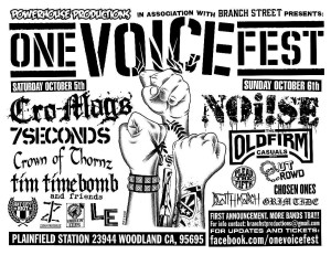 One Voice Fest flyer